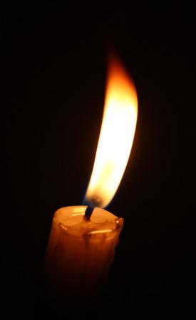 llama de vela de cera Foto de archivo