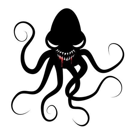 Monster octopus draw Çizim