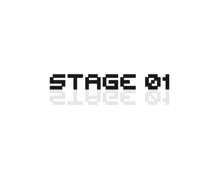 Stage 01 retro video game message