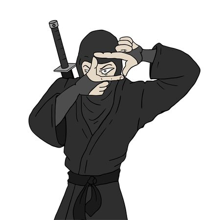 Design of ninja vision draw