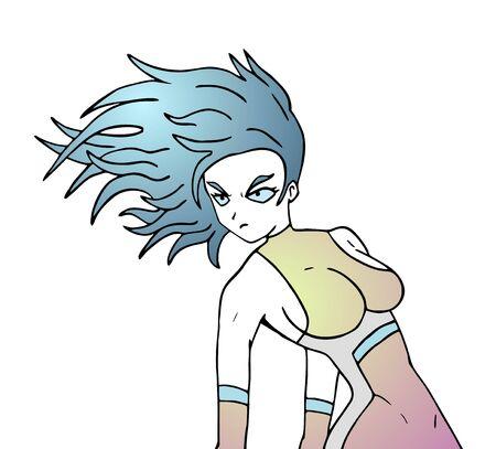 Powerful woman draw
