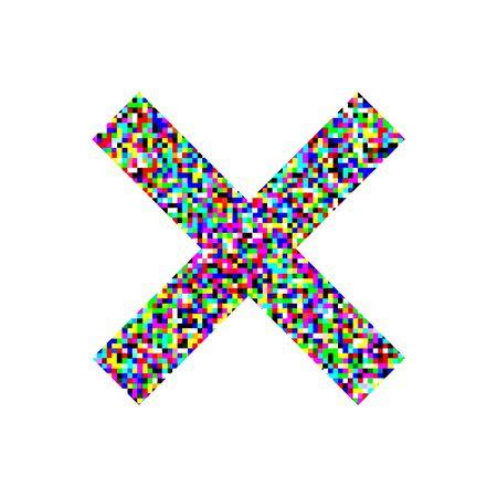 imaginative colorful cross