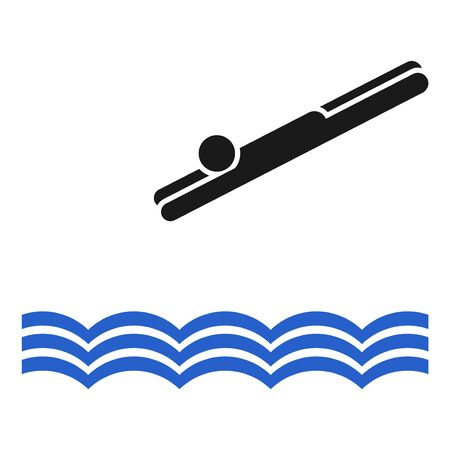 launch swimmer to the water draw
