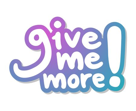 give me more message Stock Illustratie