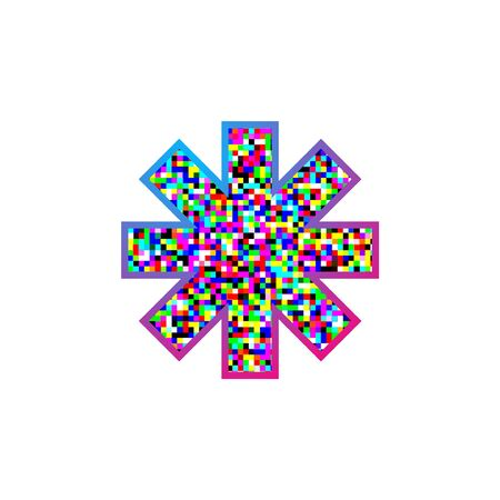 imaginative colorful asterisk symbol Ilustração