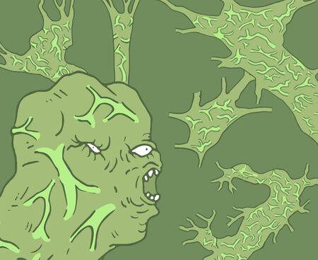 imaginative mutant illustration