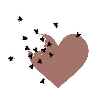 abandoned broken heart draw