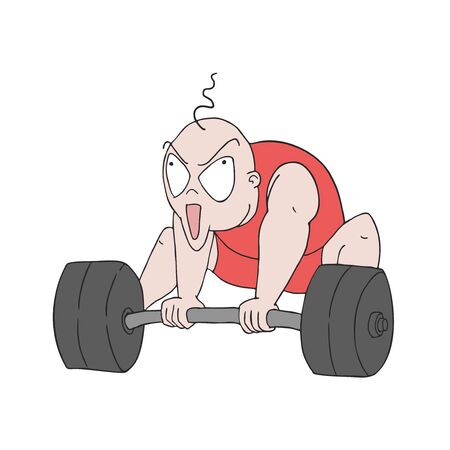 man trying lift weights