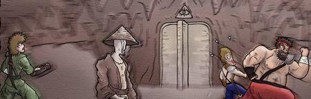 Imaginative cartoon characters drawing by hand