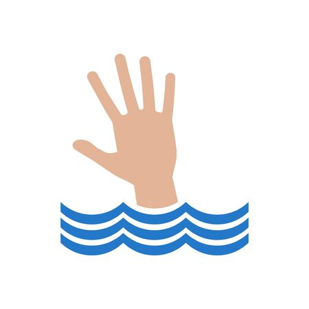 hand drowning in water Stock Photo