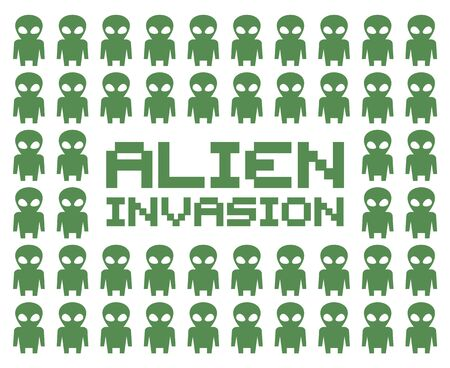 Alien invasion illustration Ilustrace