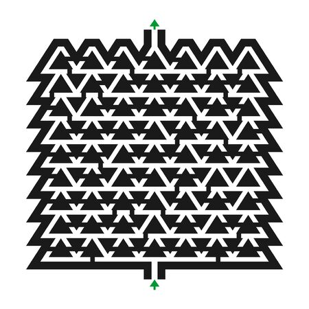 Imaginative maze illustration