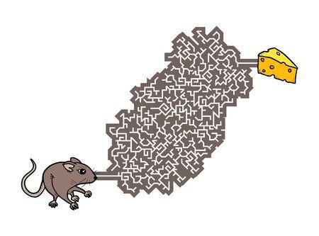 Imaginative labyrinth illustration Ilustração