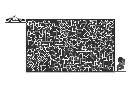 Imaginative labyrinth illustration Illusztráció