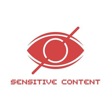Sensitive content icon Illusztráció