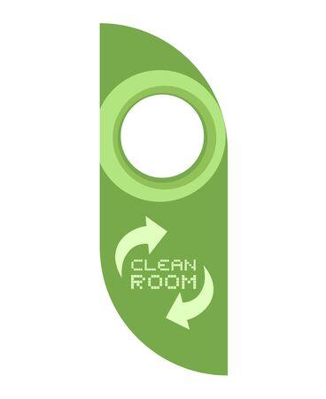 clean room message tag dog 向量圖像