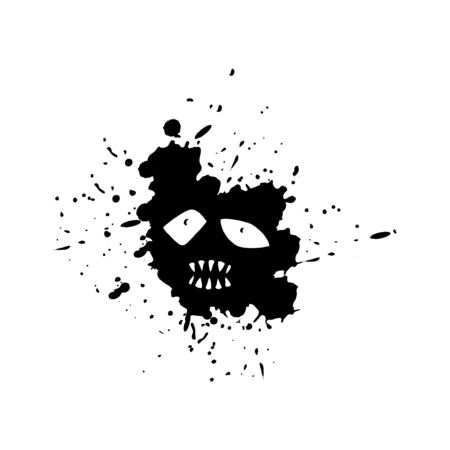 Imaginative face on ink stain