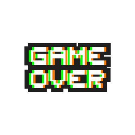 game over pixel symbol