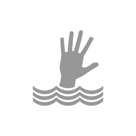 Hand im Wasser ertrinken Vektorgrafik