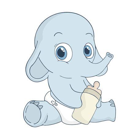 adorable baby elephant Stockfoto - 130738480