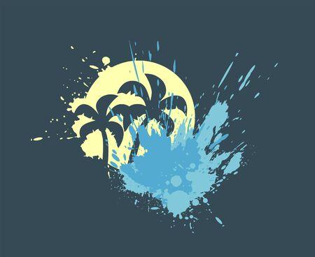 summer splash illustration Иллюстрация