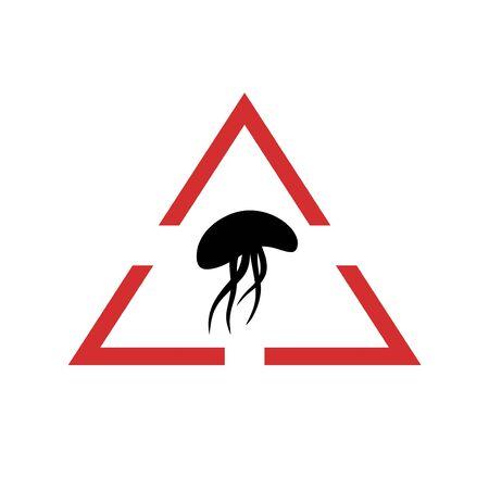 Hazard jellyfish symbol Ilustração