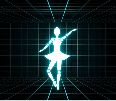 Lighting dancer illustration 向量圖像