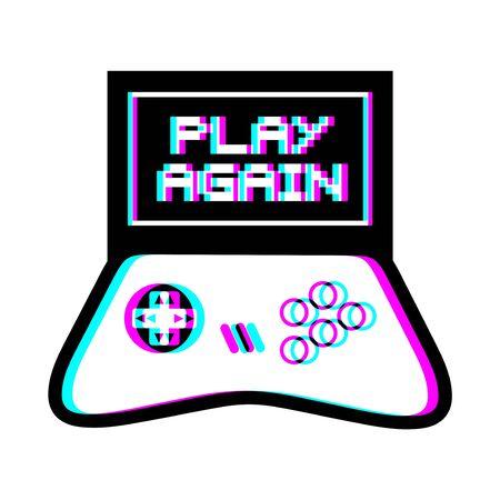 play again message Ilustração