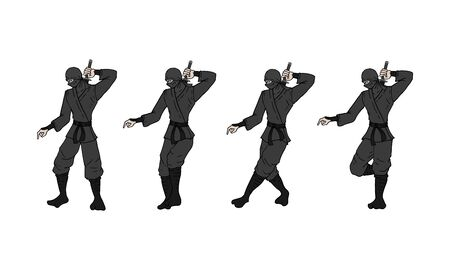 ninja walking draw