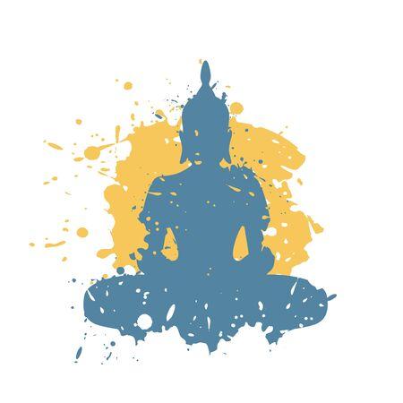 Design of budha art illustration