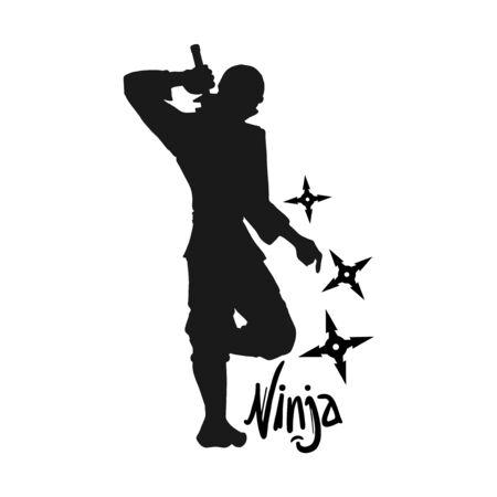 Design of ninja illustration