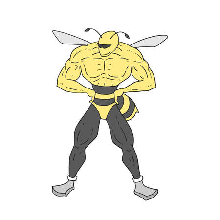 muscle insect draw Ilustração