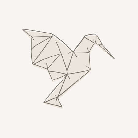 Origami hummingbird illustration