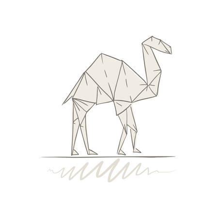 origami camel illustration