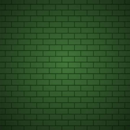 Green brick wall pattern