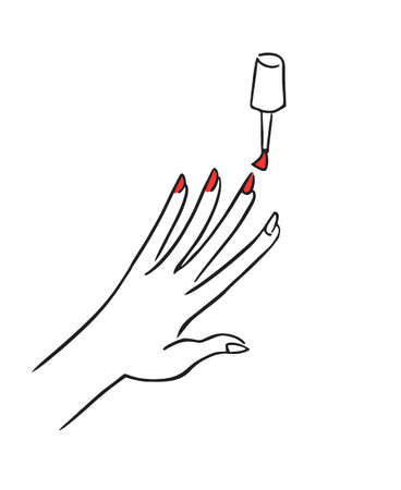 painting nails illustration