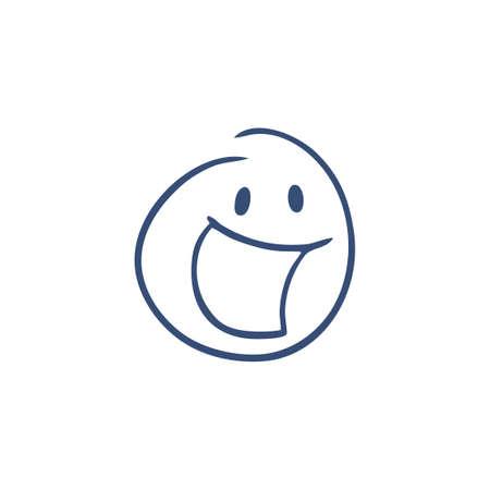 happy face illustration Ilustração