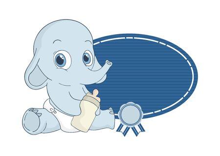adorable baby elephant Illustration