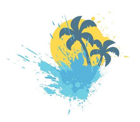 summer splash illustration