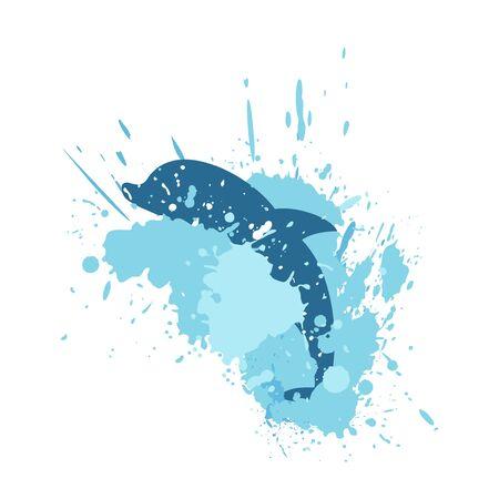 Splash dolphin draw