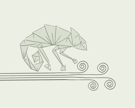 imaginative chameleon illustration