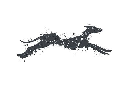 Art draw running dog