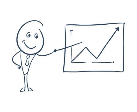 sales manager illustration Ilustración de vector