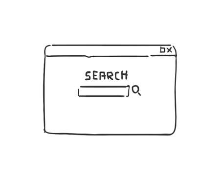 funny design of searching menu