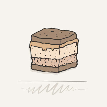 tasty appetizer illustration