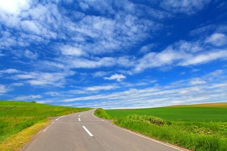 The way in Biei