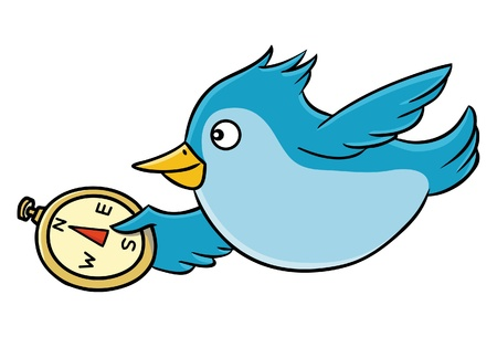 flit: Bird with Compass Illustration