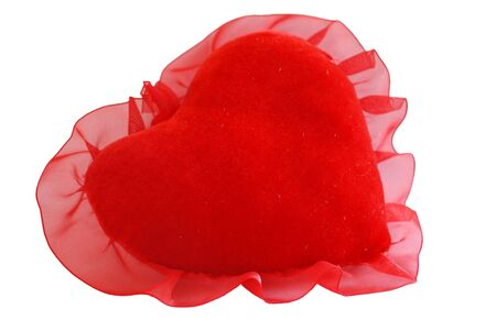red plush heart Stock Photo - 5902375