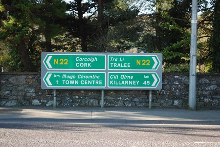 signpost in English and Irish photo