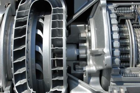 car transmission: section of the automatic transmission